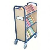 Mobile Library Book Spine Reader Trolley