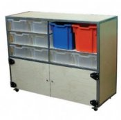 Mobile Storage Cupboard Trolley
