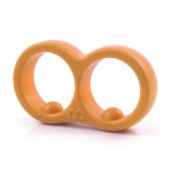 The Moderator Ring in Tangerine Orange