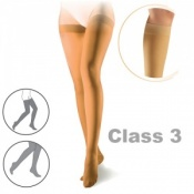Sigvaris Cotton Class 3 Nature Thigh Compression Stockings with Knobbed Grip Top
