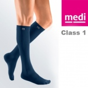 Medi Mediven Active Class 1 Navy Below Knee Compression Socks for Men