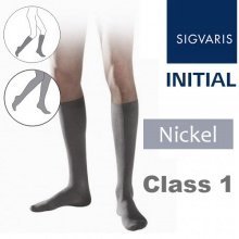 Sigvaris Initial Men's Calf Class 1 Nickel Compression Stockings