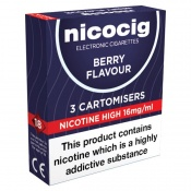 Nicocig Refill Cartridges High Strength Berry Cartomisers