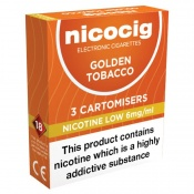 Nicocig Refill Cartridges Low Strength Golden Tobacco Cartomisers