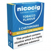 Nicocig Electronic Cigarette Low Strength Refill Cartridges