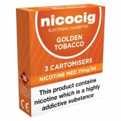 Nicocig Refill Cartridges Medium Strength Golden Tobacco Cartomisers