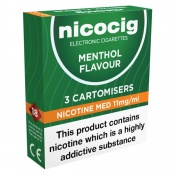 Nicocig Refill Cartridges Medium Strength Menthol Cartomisers