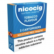 Nicocig Electronic Cigarette Medium Strength Refill Cartridges
