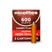 Nicolites Refill Cartridges High Strength Cherry Cartomisers