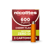 Nicolites Refill Cartridges Zero Strength Cherry Cartomisers
