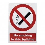 'No Smoking in This Building' Warning Sign