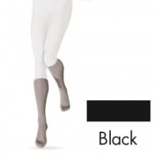 Sigvaris Opalis Calf Class 2 Black Compression Stockings - Open Toe