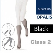 Sigvaris Opalis Calf Class 2 Black Compression Stockings