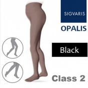 Sigvaris Opalis Class 2 Black Compression Maternity Tights