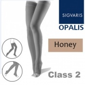 Sigvaris Opalis Thigh Class 2 Honey Compression Stockings - Open Toe