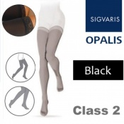 Sigvaris Opalis Thigh Class 2 Black Compression Stockings
