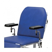 Pair of Fully Adjustable Phlebotomy Armrests for Bristol Maid Treatment and Examination Couches