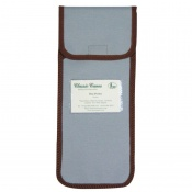 Pale Blue Wallet with Brown Trim for the Folding Walking Sticks
