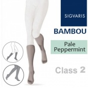 Sigvaris Bambou for Women Calf Class 2 Pale Peppermint Compression Stockings