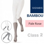 Sigvaris Bambou for Women Calf Class 2 Pale Rose Compression Stockings