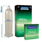 Pasante Delay Condoms 12 Pack
