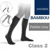 Sigvaris Bambou for Men Calf Class 2 Pebble Grey Compression Stockings