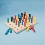 Pegboard with Round Pegs