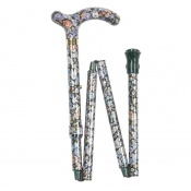 Petite Adjustable Folding Easy-Joint Autumn Gold Walking Cane
