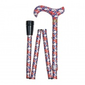 Adjustable Folding Fashion Derby Handle Union Flag Walking Cane
