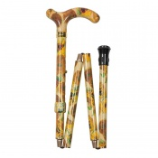 Petite Adjustable Folding National Gallery Sunflowers Derby Handle Walking Cane