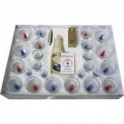 Complete Plastic Cupping Set with 24 Cups