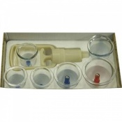 Complete Plastic Cupping Set with 6 Cups