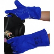 Premium Blue Welder Gloves