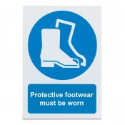 'Protective Footwear Must Be Worn' Safety Sign