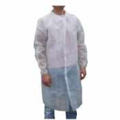 Protective White Visitors Coat (Pack of 500)