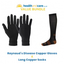 Raynaud's Disease Copper Gloves and Long Copper Socks Bundle
