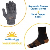 Raynaud's Disease Copper Gloves and Short Copper Socks Bundle
