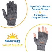 Raynaud's Disease Copper Gloves and Fingerless Copper Gloves Bundle
