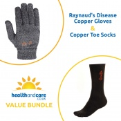 Raynaud's Disease Copper Gloves and Copper Toe Socks Bundle