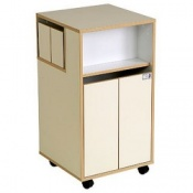 Bristol Maid Laminate Bedside Cabinet with Rear Side Drawers