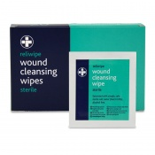 Reliwipe Sterile Wound Cleansing Wipes Refill (Pack of 100)