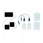 Pair of Rubber Electrodes with Pigtails