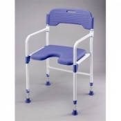 Folding Shower Chair With PU Seat and Back