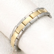 Sabona Executive Brushed Duet Magnetic Bracelet