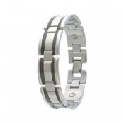 Sabona Executive Stainless Black Magnetic Bracelet