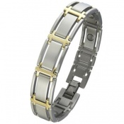 Sabona Men's Executive Symmetry Duet Magnetic Bracelet