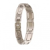 Sabona Executive Symmetry Silver Magnetic Bracelet