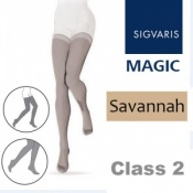 Sigvaris Magic Class 2 Thigh Closed Toe Compression Stockings - Savannah