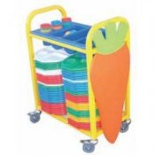 School Canteen Small Cutlery Collection Trolley