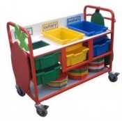 School Canteen Cutlery Collection & Clearing Trolley